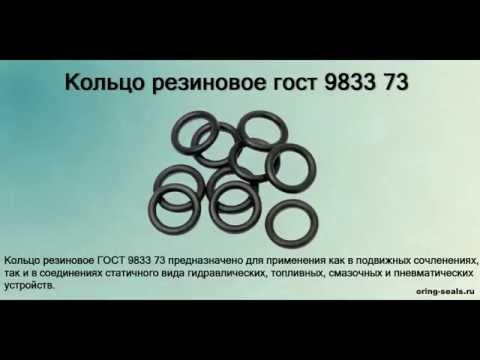 Кольцо резиновое ГОСТ 9833 73 - уплотнительное, круглые, купить