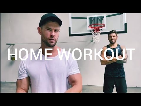 Chris Hemsworth's Home Workout With His Trainer Luke Zocchi During Coronavirus Outbreak