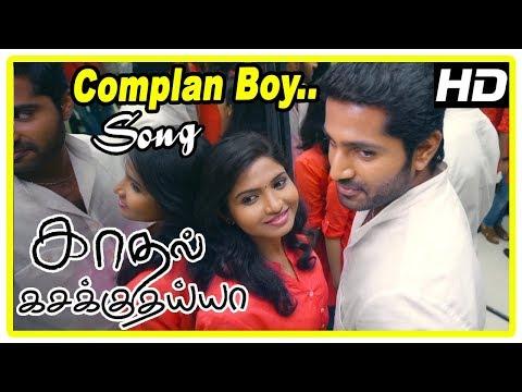 Kadhal Kasakuthaiya Movie Scenes | Dhruvva falls for Venba | Complan Boy Song | Dhruvva is warned