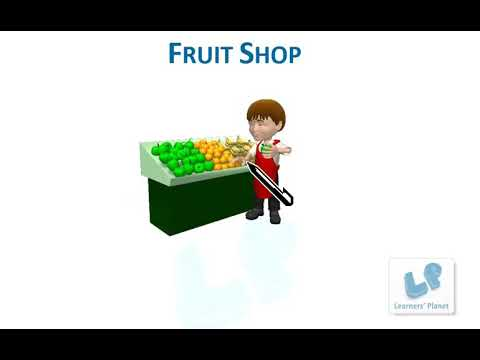 Grade 1 reading comprehensions worksheets in English- Fruit Shop