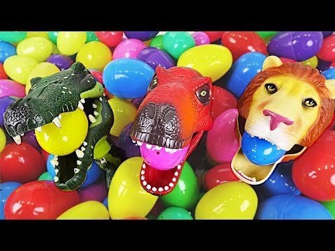 Terrible transformation of crocodiles, dinosaurs, and lion trio appeared! - DuDuPopTOY