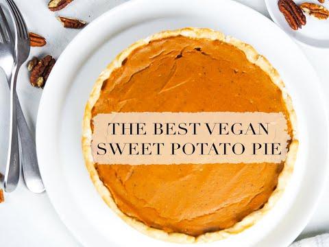 VEGAN SWEET POTATO PIE ||plant-basedrecipes