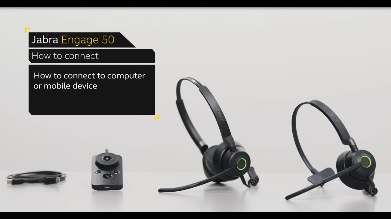 How to connect your Jabra Engage 50 to a computer or mobile device