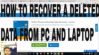 HOW TO RECOVERY A DELETED DATA FROM PC , LAPTOP