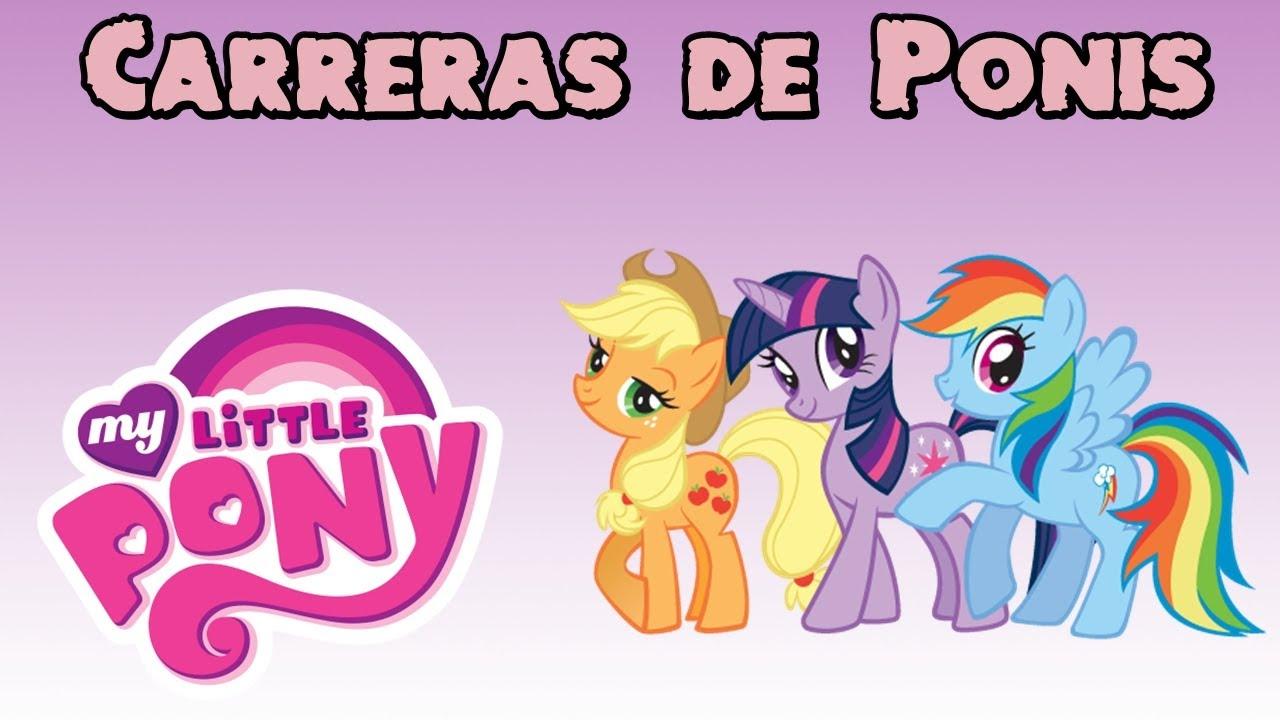 Juegos de machos My Little Pony  Carrera de Ponis  YouTube