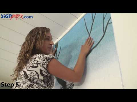 How To Install A Wall Mural Youtube