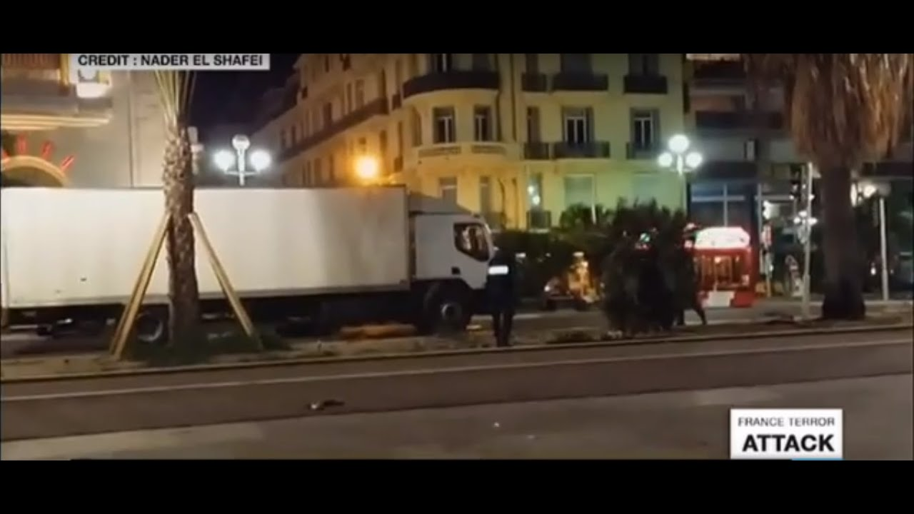 Nice: amateur footage shows several gunshots and police firing at truck driver - GRAPHIC FOOTAGE