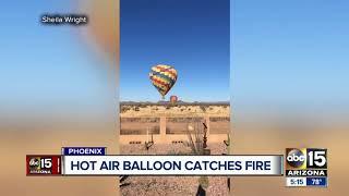 Video captures hot air balloon crash in Phoenix