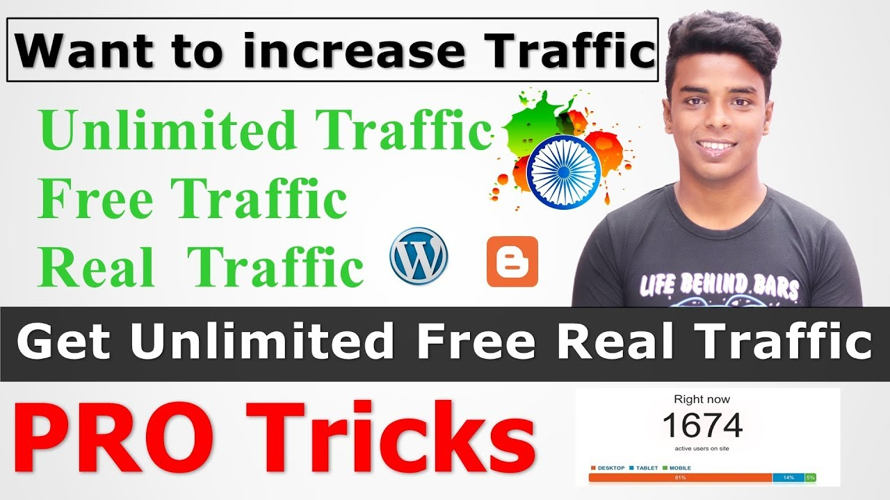 How to Get Unlimited Free Real Traffic on Your Blog  [Pro Tricks]