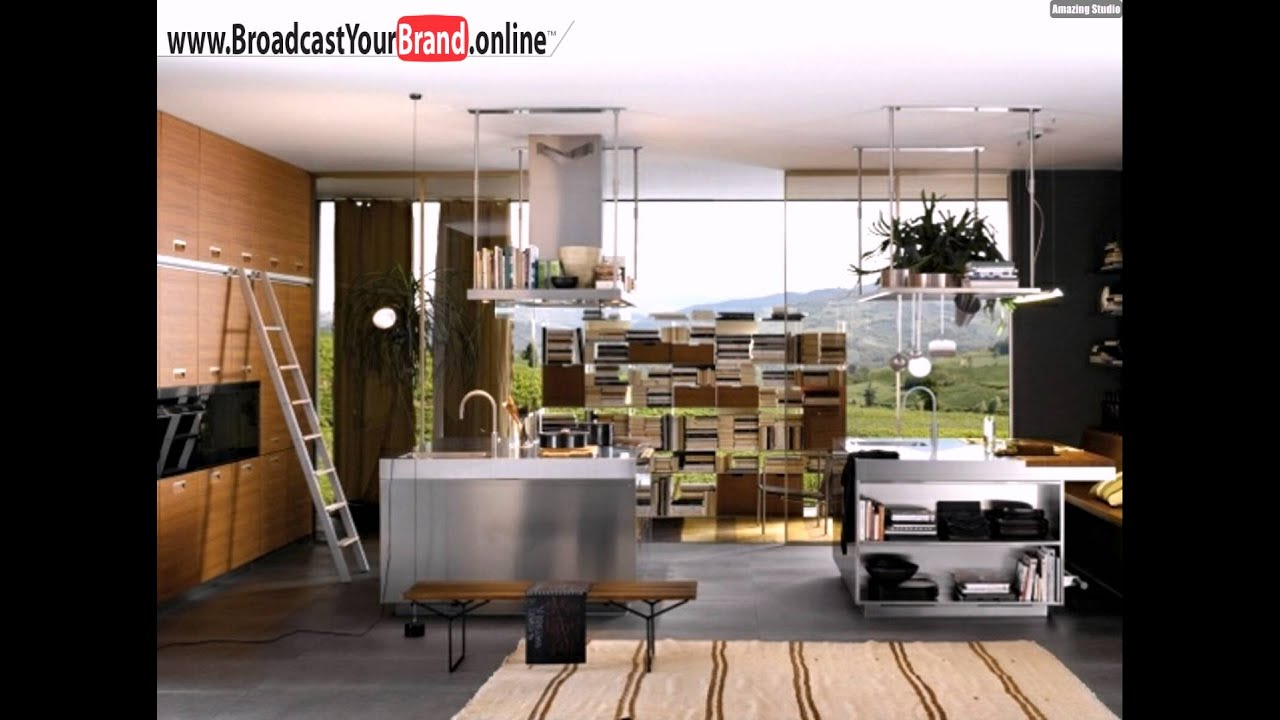 edelstahl kochinsel sp le moderne k che design ideen youtube. Black Bedroom Furniture Sets. Home Design Ideas