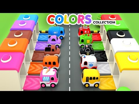 Colors for Children to Learn with Street Vehicles Toys - Colors Videos Collection for Children