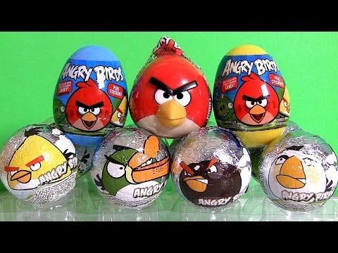 Download NEW Angry Birds Surprise Eggs Review by Disneycollector Chocolate Sorpresa Huevos!