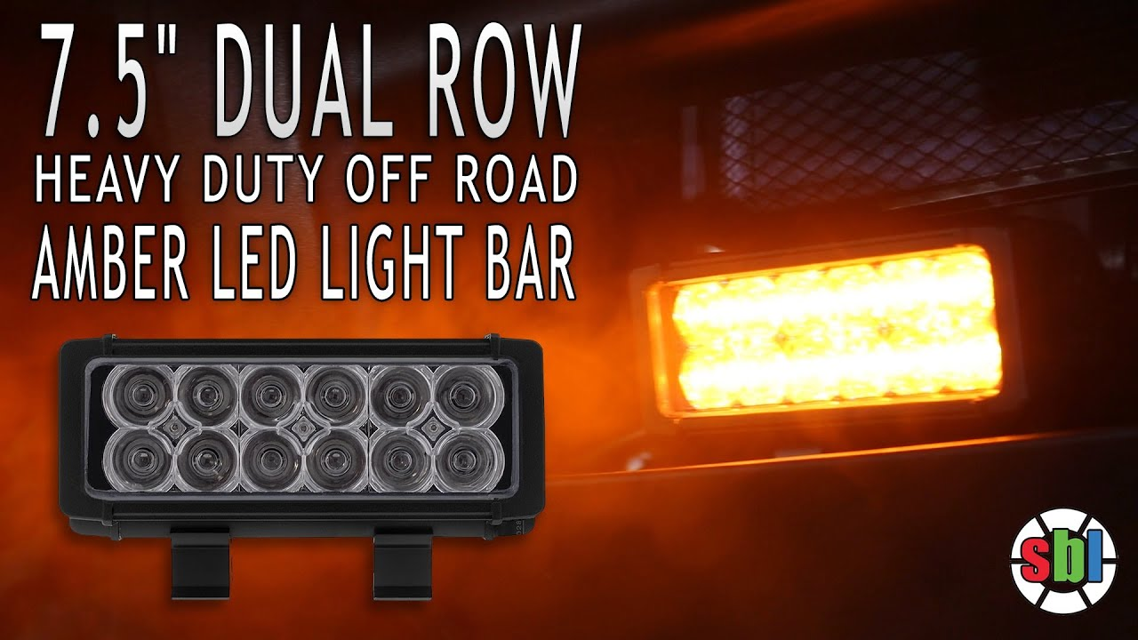 75 dual row off road amber led light bar 36 watt youtube mozeypictures Gallery