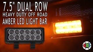 7 5 dual row off road amber led light bar 36 watt