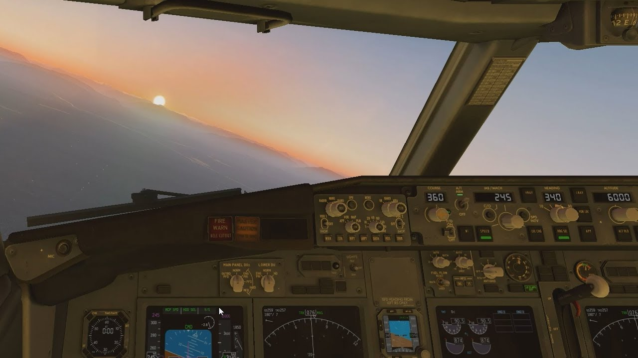 X-Plane 11 - Flying a 737 from KSEA to KPAE on autopilot and autoland  without any plugins