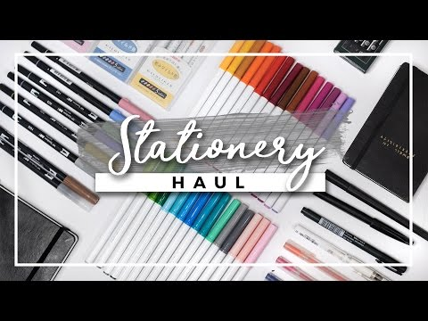 Stationery Haul! (w/ Demos) | Bullet Journal Supplies