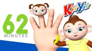 Finger Family | Plus Lots More Nursery Rhymes | 62 Minutes Compilation From KiiYii!