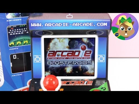 ARCADE AUTOMAT para celular   BLASTEROIDS com joystick   Mini fliperama