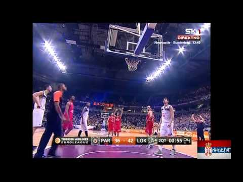 Euroleague 2013/14 (top 16)  Partizan-Lokomotiv Kuban   81-8
