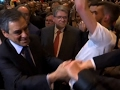 Raw: Flour Hits French Presidential Candidate