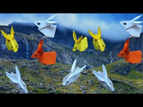 Paper rabbit making step by step tutorial - How to make a paper rabbit