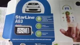 видео Автосигнализация StarLine A63 2CAN+2LIN с обратной связью