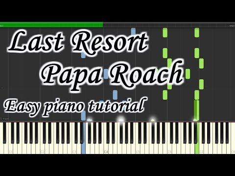 Last Resort - Papa Roach - Very Easy And Simple Piano Tutorial Synthesia Planetcover