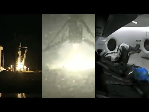 Crew Dragon's First Launch & Falcon 9 first stage landing (SpaceX Demo-1)
