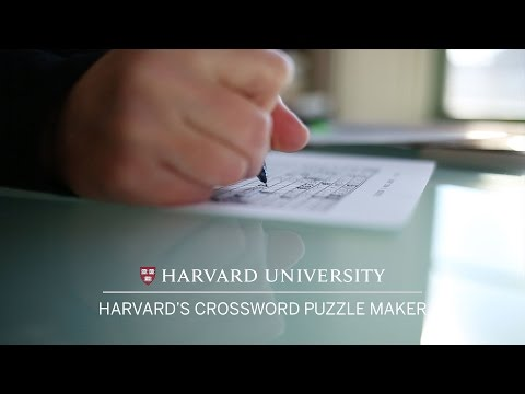 Harvard's crossword puzzle maker - YouTube