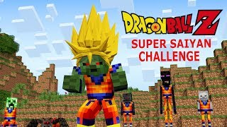 Monster School: Dragon Ball Z Challenge - Super Saiyan (Minecraft Animation)
