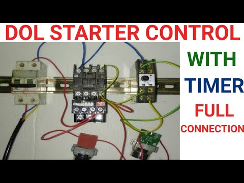 Dol Starter Control With Timer Youtube