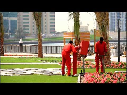 Al Majaz waterfront park Sharjah . Full HD الواجهة المائية المجاز الشارقة