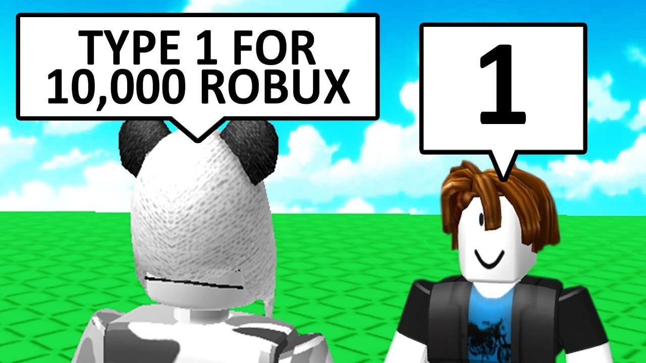 Don T Say Anything To Win 10 000 Robux Roblox Youtube