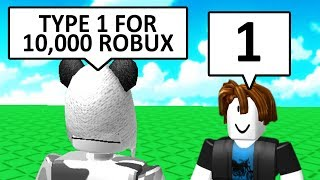 Don't Say ANYTHING To Win 10,000 ROBUX (Roblox)