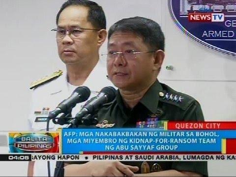 AFP: Mga nakabakbakan ng militar sa Bohol, mga miyembro ng kidnap-for-ransom team ng ASG