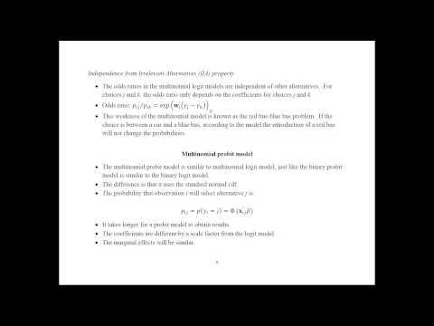Multinomial Probit and Logit Models - Econometrics Academy