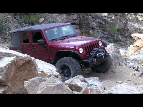 Pit Bull Tires - Jeep Wranglers - Trail Run - Mottino Wash - Garden of Eden