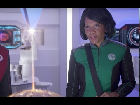 with Penny Johnson Jerald Dr. Claire Finn about The Orville