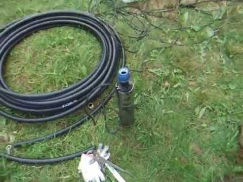 Водопровод из скважины на даче Павловский посад, монтаж скважинного насоса.