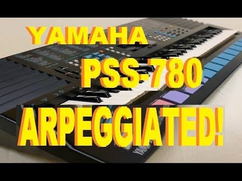 Yamaha PSS-780, arpeggiated via MIDI with cool results