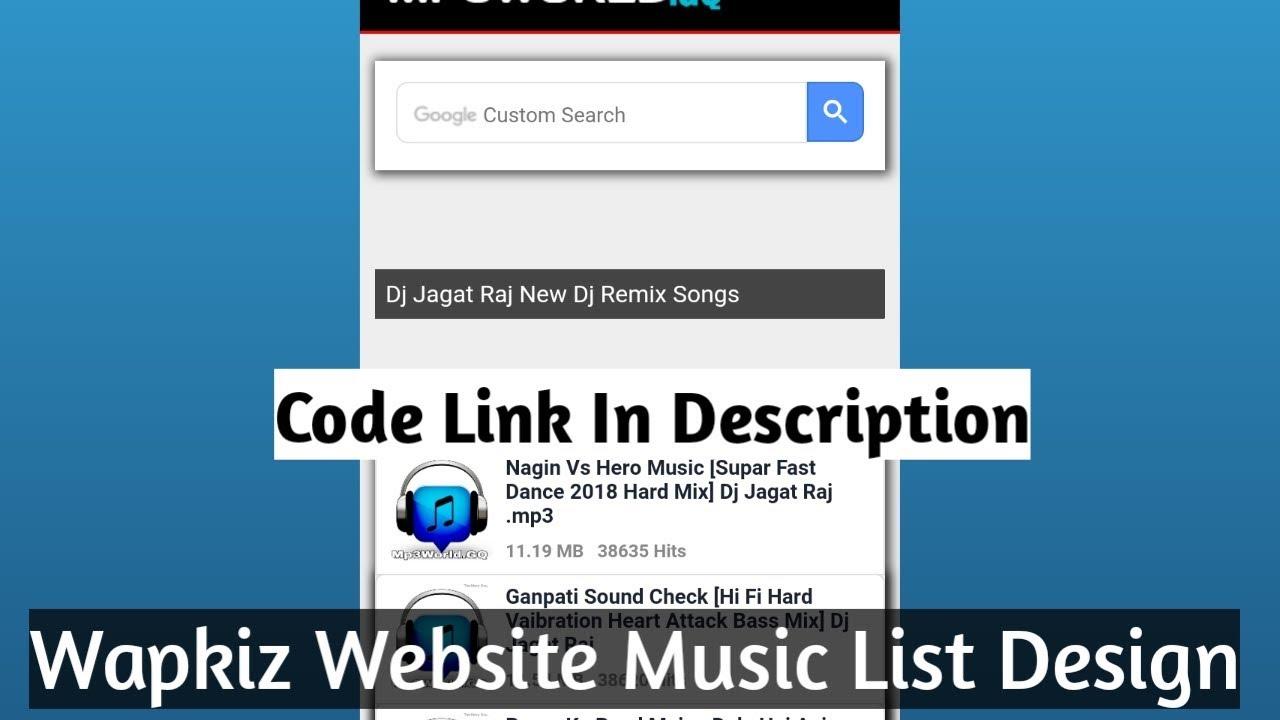 Wapkiz Website Php Style Music List Code || Wapkiz Folder