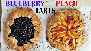 Blueberry And Peach Galette/tart, Haniela's