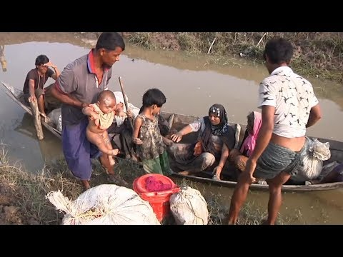 The Rohingya, fleeing for their lives in Myanmar, head for Bangladesh