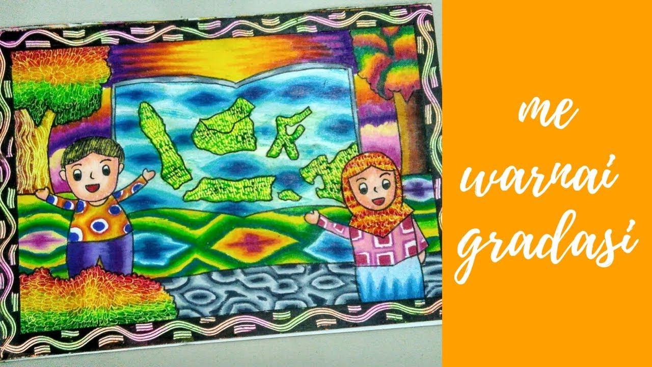 Cara Menggambar Dan Mewarnai Orang Dengan Crayon No 1 Youtube