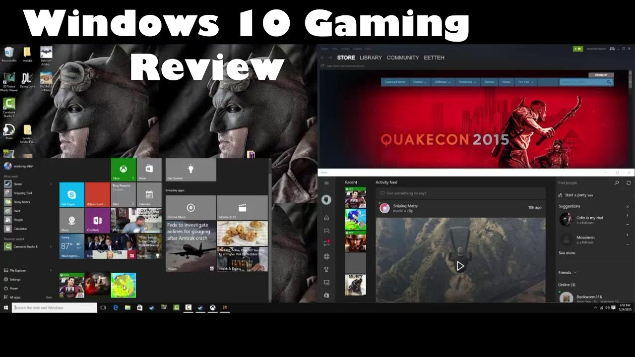 windows 10 gaming review youtube. Black Bedroom Furniture Sets. Home Design Ideas