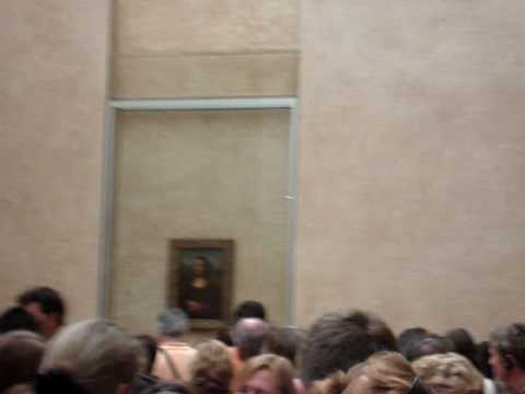 Mona Lisa and the Grand Gallery in le Louvre