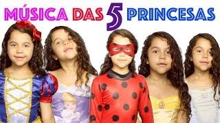 MÚSICA DAS PRINCESAS - FROZEN ELSA - CINDERELA - BRANCA DE NEVE -  BELA E LADYBUG - FINGER FAMILY