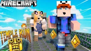 NOOB VS PRO - KTO WYGRA WYŚCIG TEMPLE RUN W MINECRAFT?! 😂🏆 VITO VS BELLA