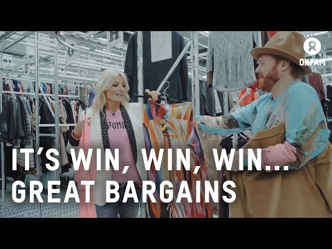 Keith Lemon And Gaby Roslin Shop For Clothes With Oxfam | Oxfam GB