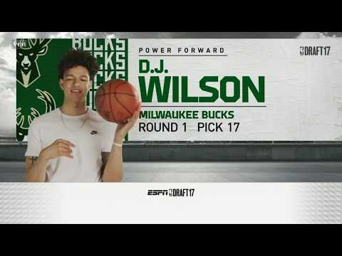 Download Youtube: D.J. Wilson Drafted 17th Overall By Milwaukee Bucks in 2017 NBA Draft